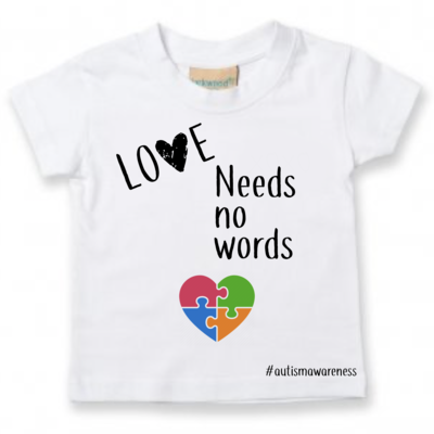 Autism Awareness Tee- Love Needs No Words