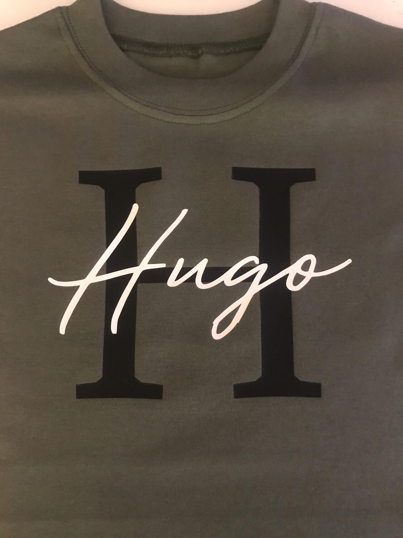 Initial & Signature Name (Thinner Font)T-shirt
