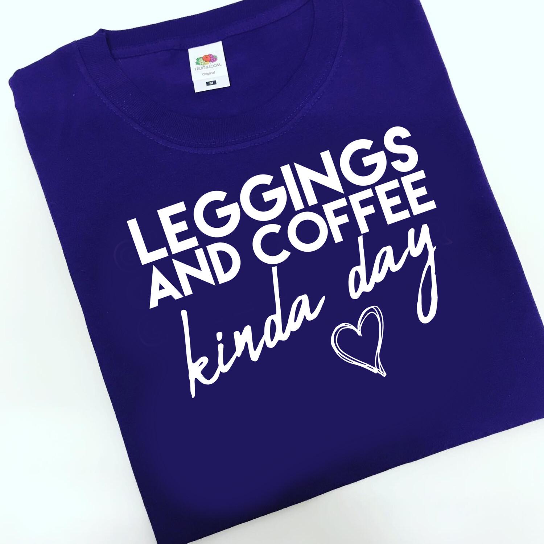 Adults Leggings & Coffee Kinda Day Sweater/Hoodie/snoodie