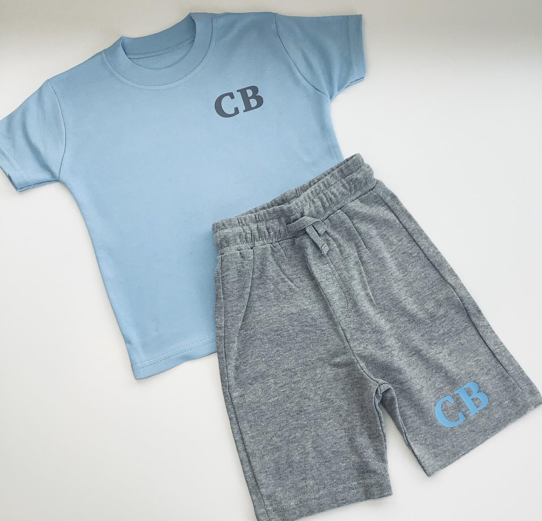 Initial T-shirt And Shorts Set
