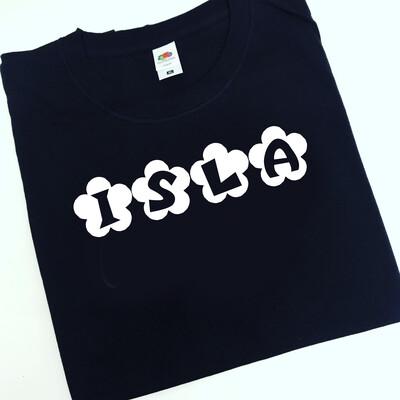 Name flower T-shirt