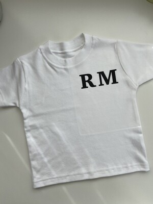 Initials (on chest) Tee