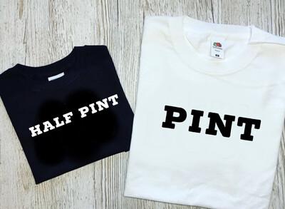 Pint & Half Pint T-shirt matching set