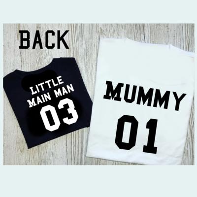 mama College Numbers tshirt