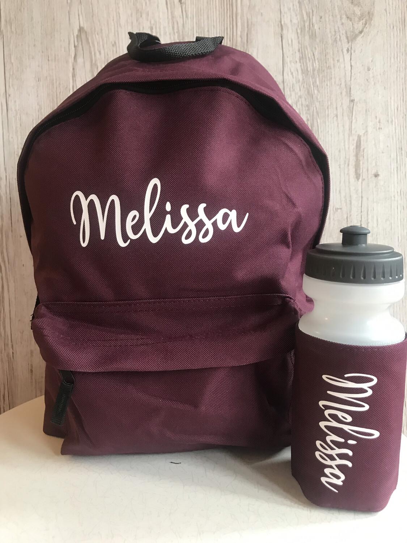 Kids School Backpack And Bottle Bundle