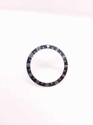Rolex GMT Master II 'FAT FOUR' Black Bezel Inlay Insert - Genuine Rolex