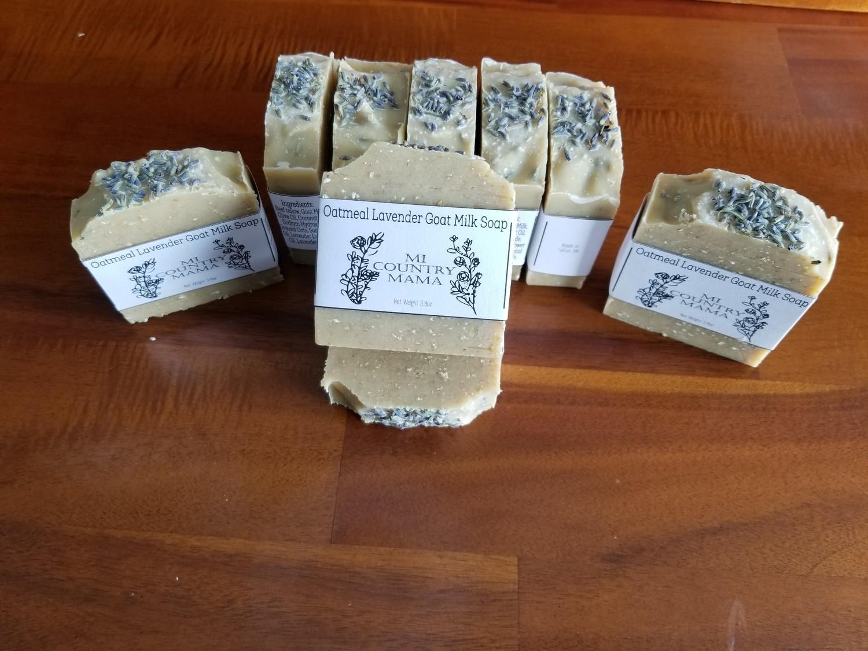 Oatmeal Lavender Goat Milk Soap 3oz