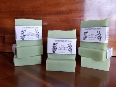Cucumber Melon Milk Soap 3oz