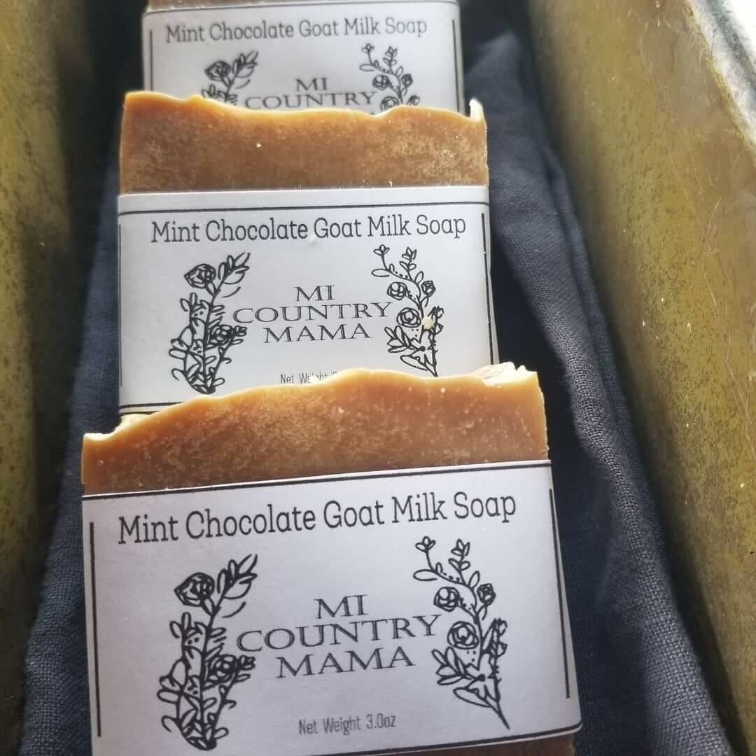 Mint Chocolate Goat Milk Soap 1oz