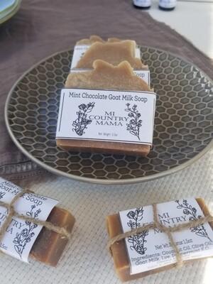 Mint Chocolate Goat Milk Soap 3oz