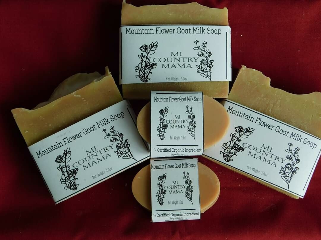 Mountain Flower Goat Milk Soap 1oz