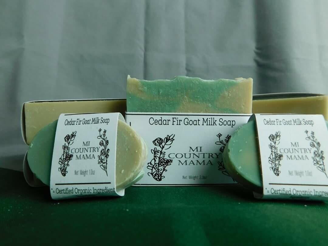 Cedar Fir Goat Milk Soap 1oz