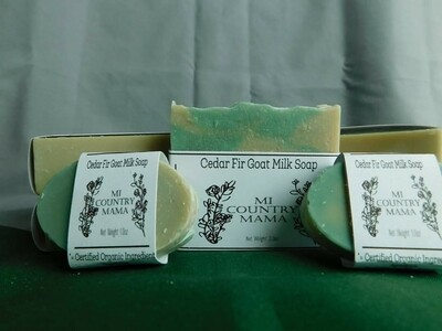 Cedar Fir Goat Milk Soap 3oz