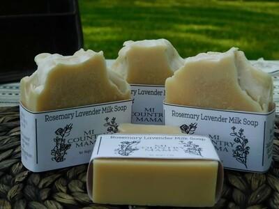 Rosemary Lavender Goat Milk Soap 3oz