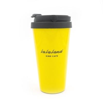 Yellow Logo Travel Mug
