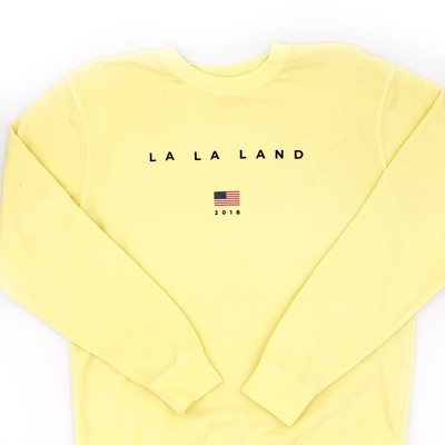 Yellow La La Crewneck