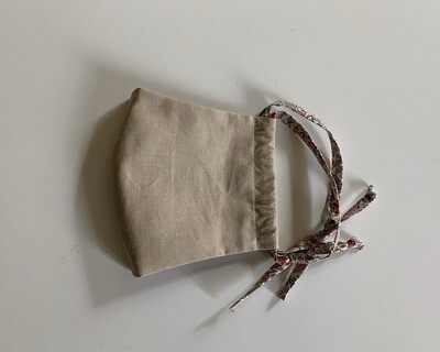 Liberty Cotton Mask with Adjustable Cloth Straps