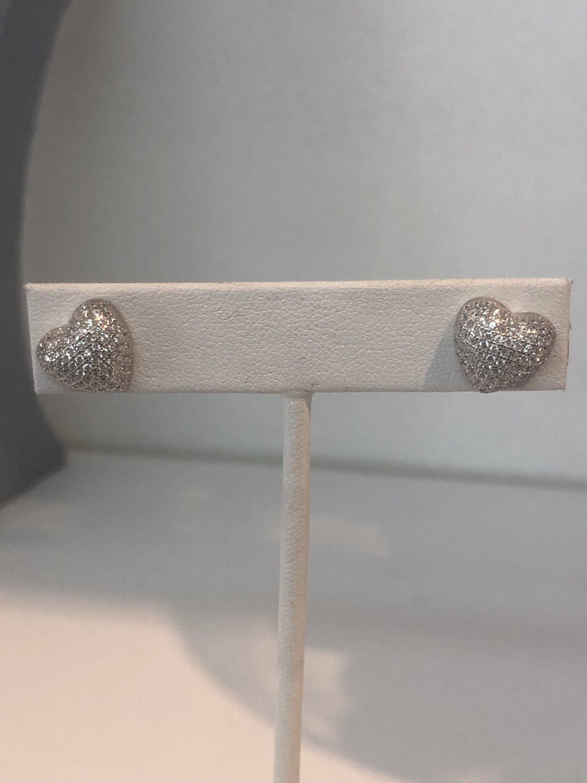 Bubble Heart Stud Earrings