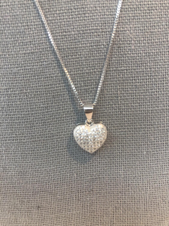 Mini Bubble Heart Necklace