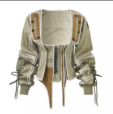 2 Piece Military Corset Jacket