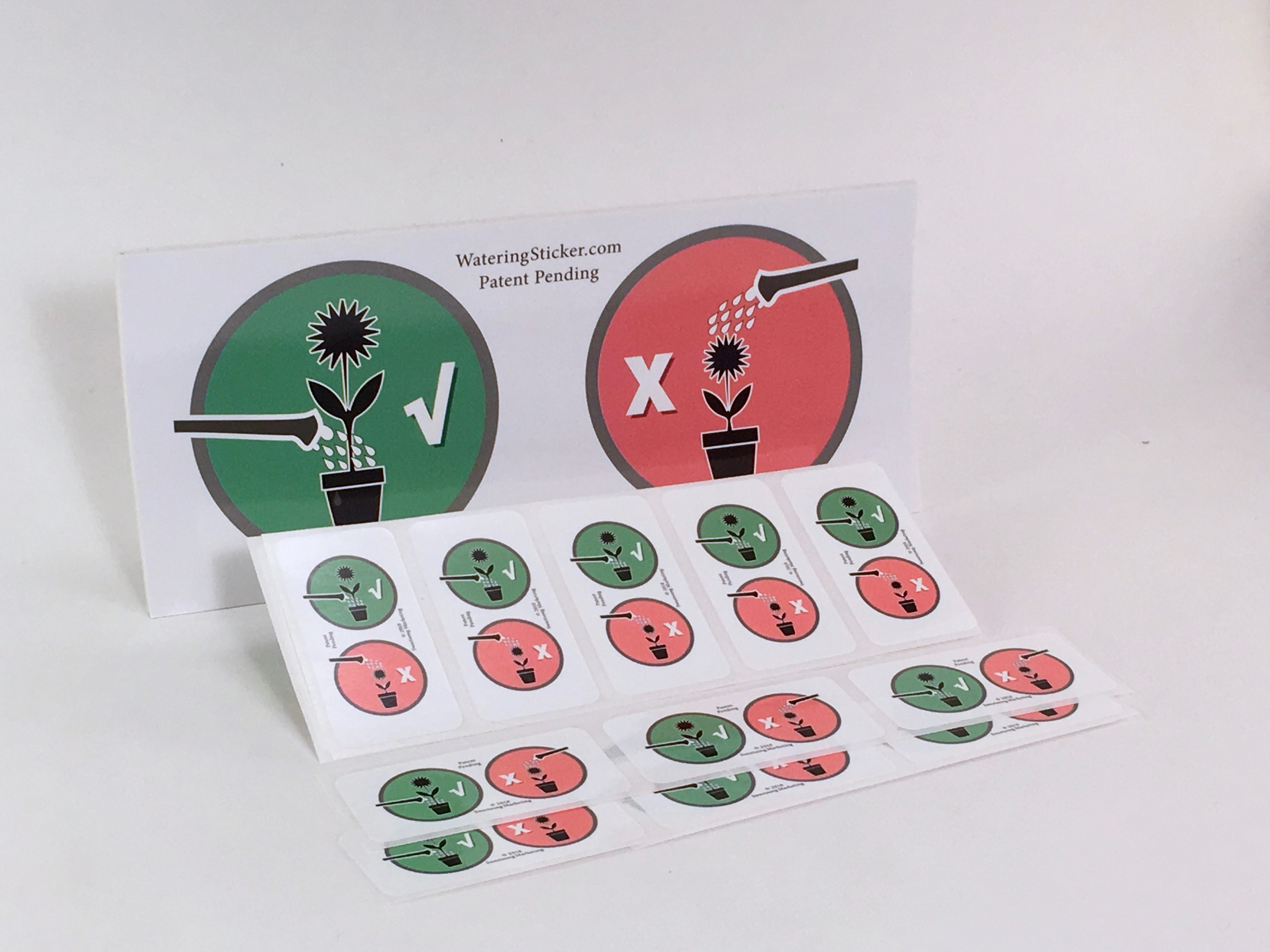 Plant Watering Instruction Sticker Kit - 30 Stickers 0008