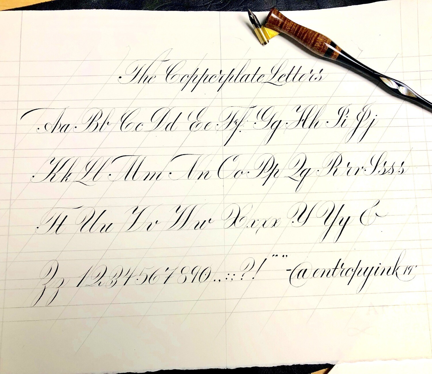 Copperplate Calligraphy with Nik Pang
