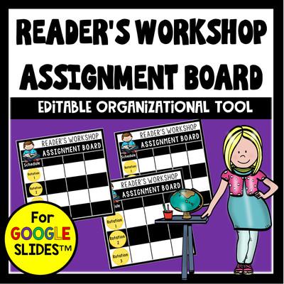 Reader's Workshop Assignment Board