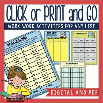 Spelling Activities for Any Word List