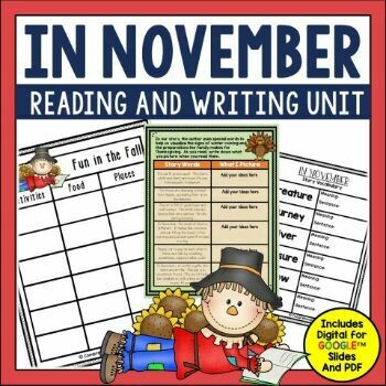 In November Book Activities