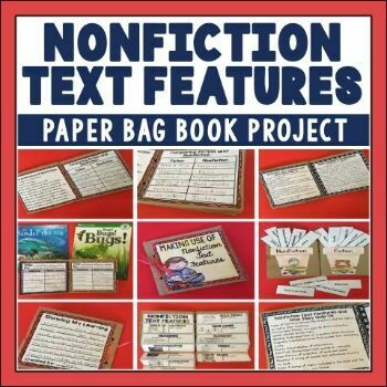Nonfiction Text Features Paper Bag Book
