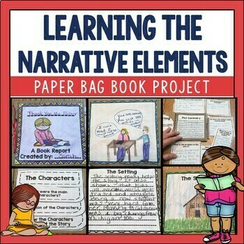 Narrative Elements Paper Bag Book for Comprehension