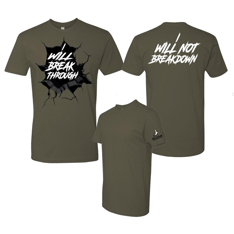 Kids 'Breakthrough' T-Shirt Olive Green