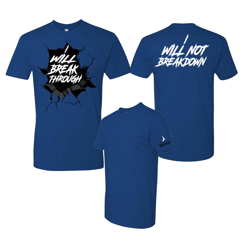 'Breakthrough' T-Shirt Royal Blue