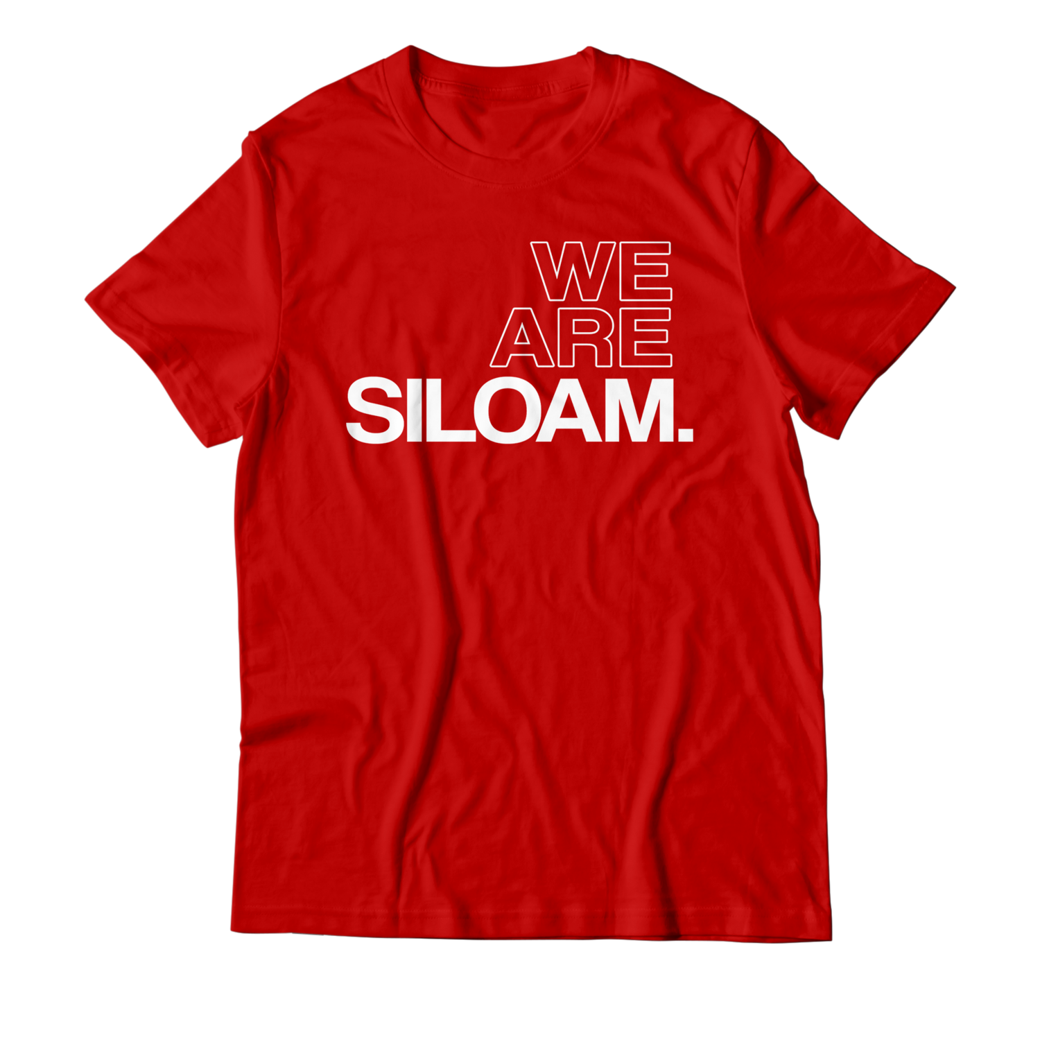 We Are Siloam T-shirt - Red & White