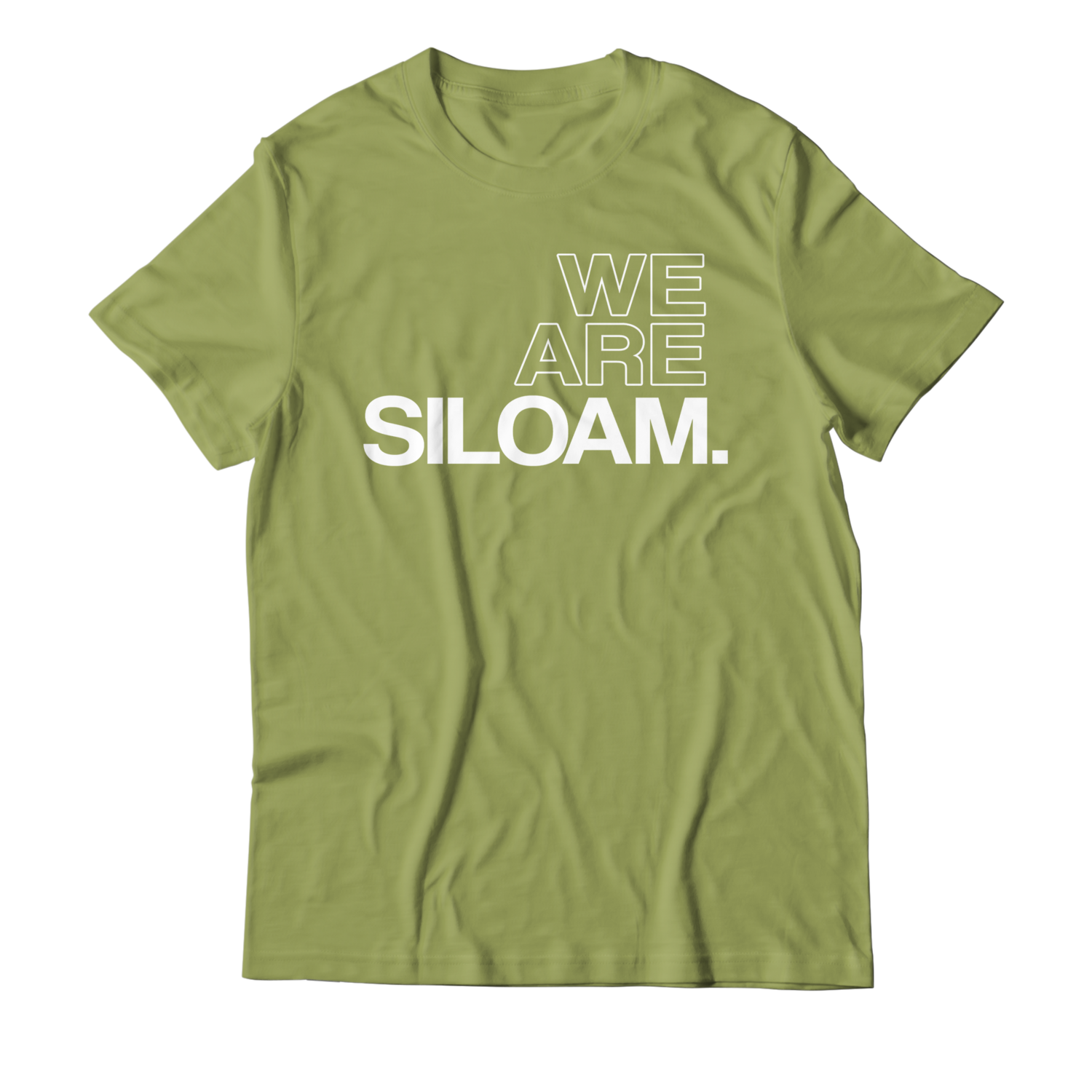 We Are Siloam T-shirt - Olive Green & White