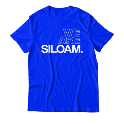We Are Siloam T-shirt - Blue & White