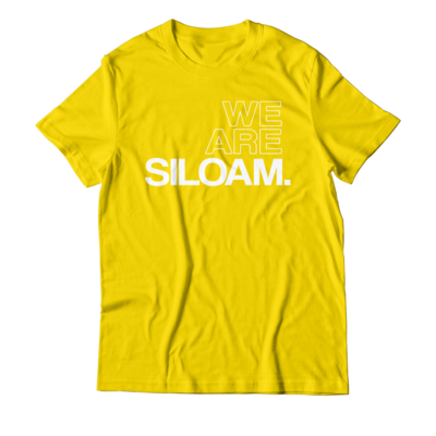 We Are Siloam T-shirt - Gold & White
