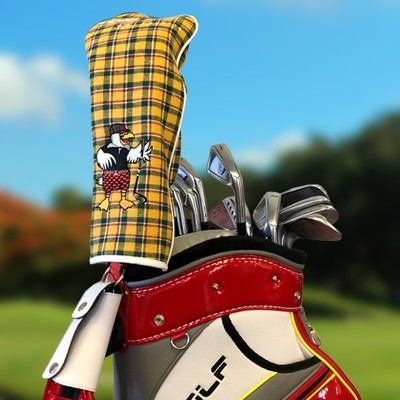 ACCRA Reversible Driver Headcover (White/Yellow)