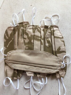 Limited Edition: Face Masks/ Masculine/ Army Combat Uniform (Authentic ACU material)