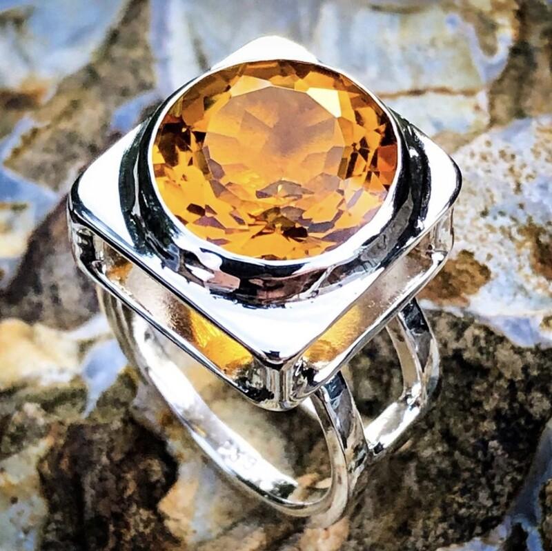 Madeira Citrine Ring