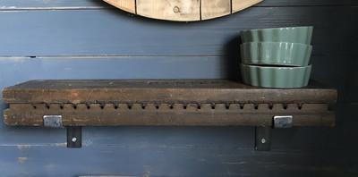 Oude sigarenmallen plank