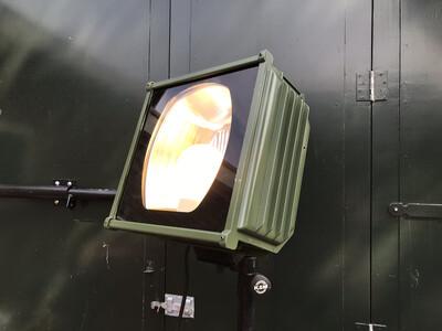Verlichting armaturen op statief