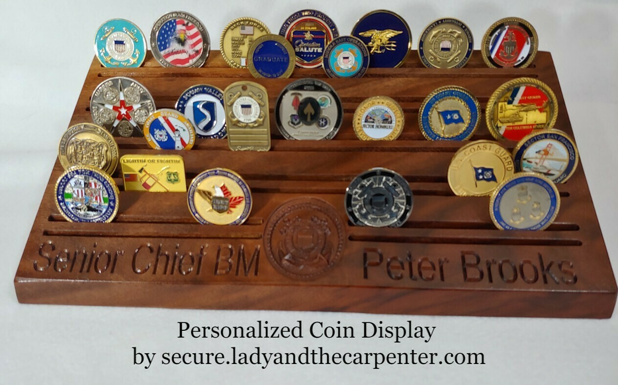 Challenge Coin Display/ Personalized Coin Holder