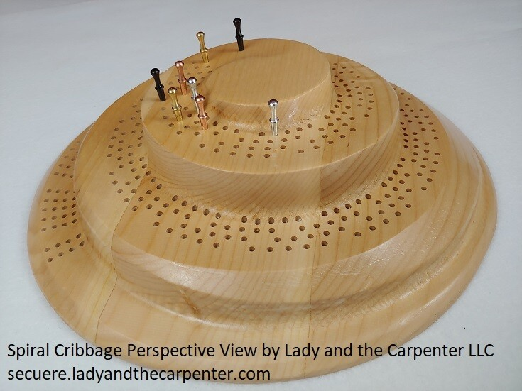 3D Spiral Mountain Cribbage Board