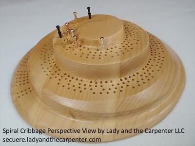 3D Spiral Mountain Cribbage Board