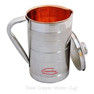 CopperKing Steel Copper Jug 1650ML, Water Drinking in Copper Vessel