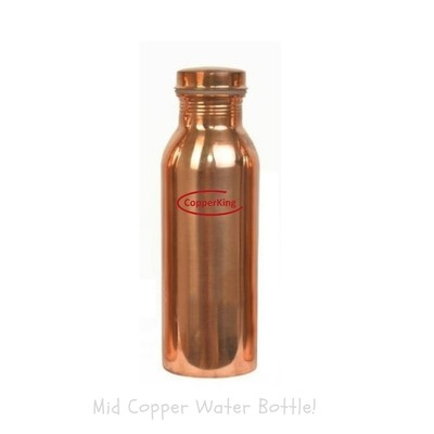 CopperKing Natural Mid Copper Water Bottle 750ml