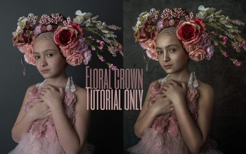 Floral Crown Fine Art Painterly Photoshop Tutorial ONLY- Fine Art Tutorial by Tara Mapes