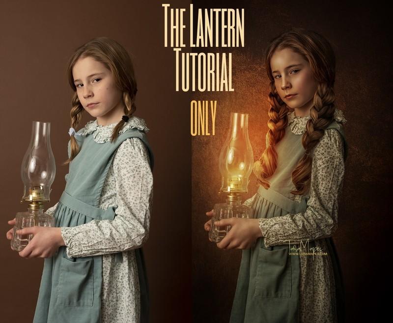 The Lantern Fine Art Painterly Photoshop Tutorial ONLY- Fine Art Tutorial by Tara Mapes