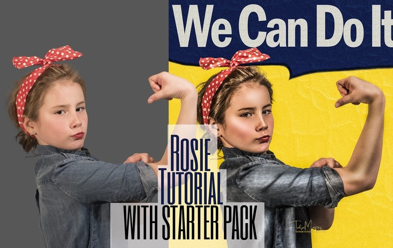 Rosie Photoshop Tutorial with STARTER PACK AND BACKGROUND- Painterly Tutorial by Tara Mapes
